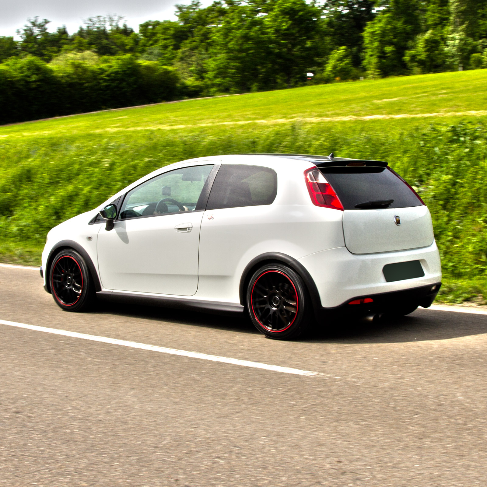 In the test at CPA - Abarth Grande Punto 1.4 T-Jet